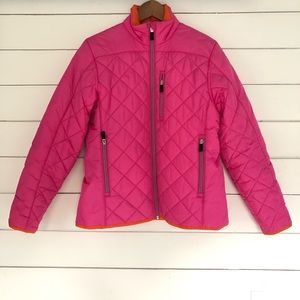 Lands' End light weight quilted puffer coat sz S